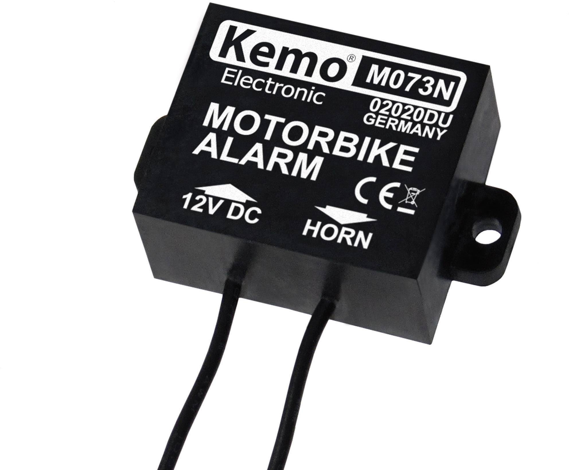 Alarm na bicykl Kemo M073N, 30 x 25 x 15 mm