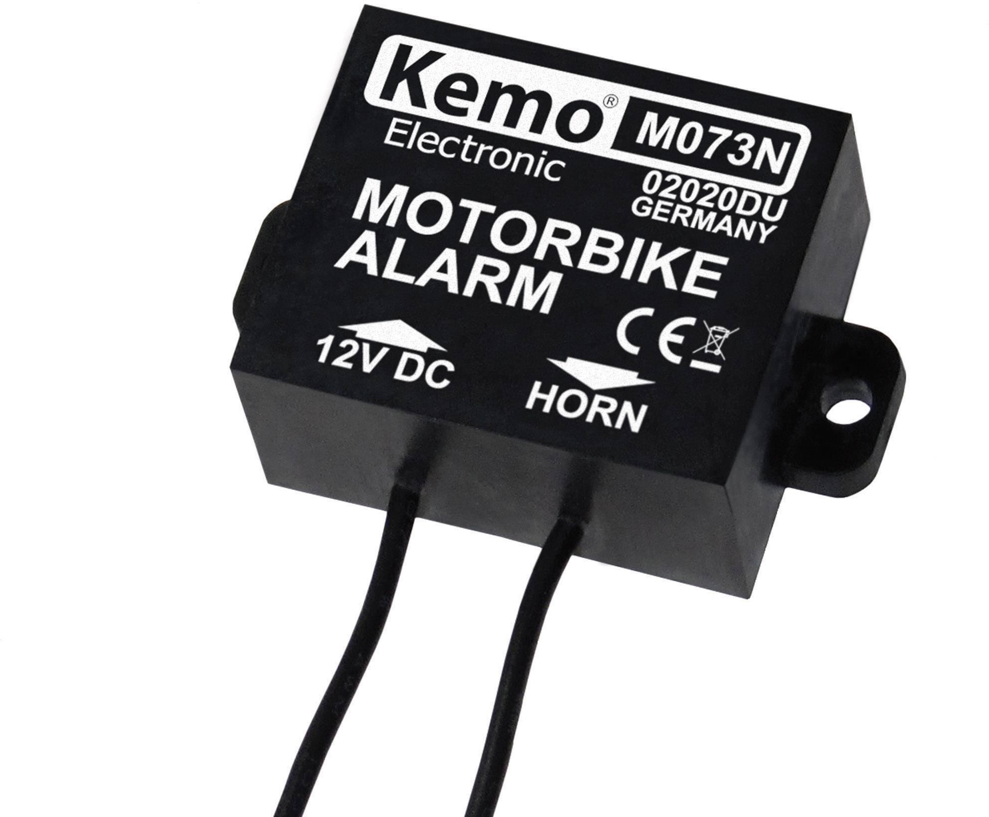 Alarm na motorku Kemo M073N, 30 x 25 x 15 mm, 25 V/DC