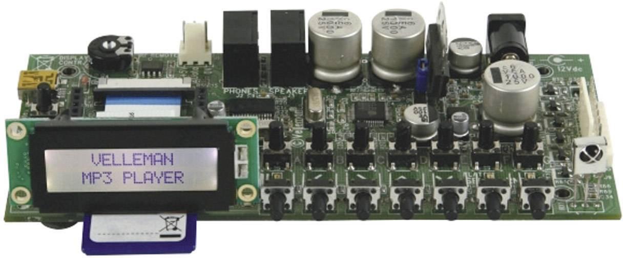 MP3 prehrávač hotový modul Velleman VM8095, 12 V/DC