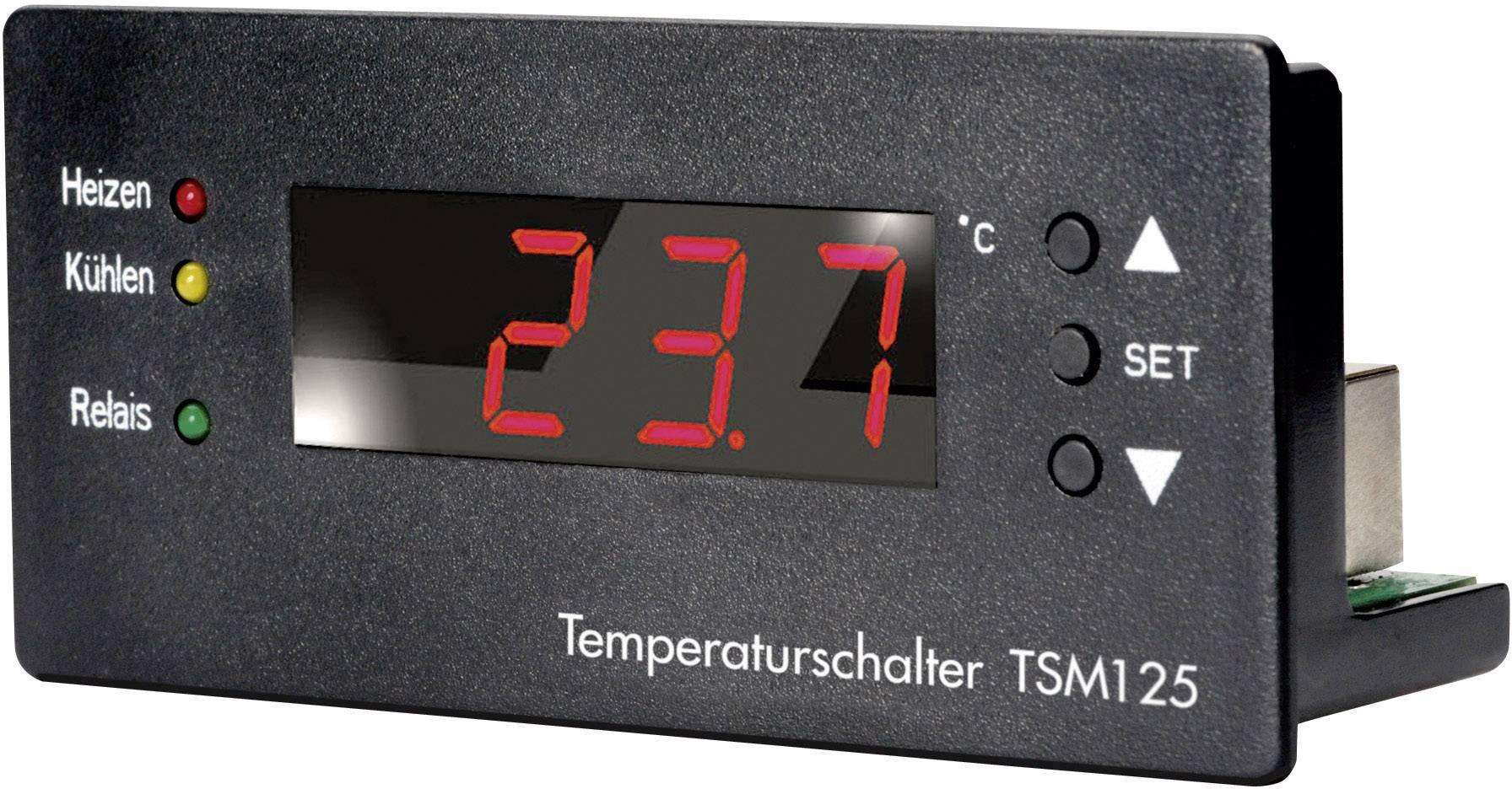 Tepelný spínač H-Tronic TSM 125, 70 x 101 x 47 mm, -55 až 125 °C, 10 - 15 V/DC (modul)