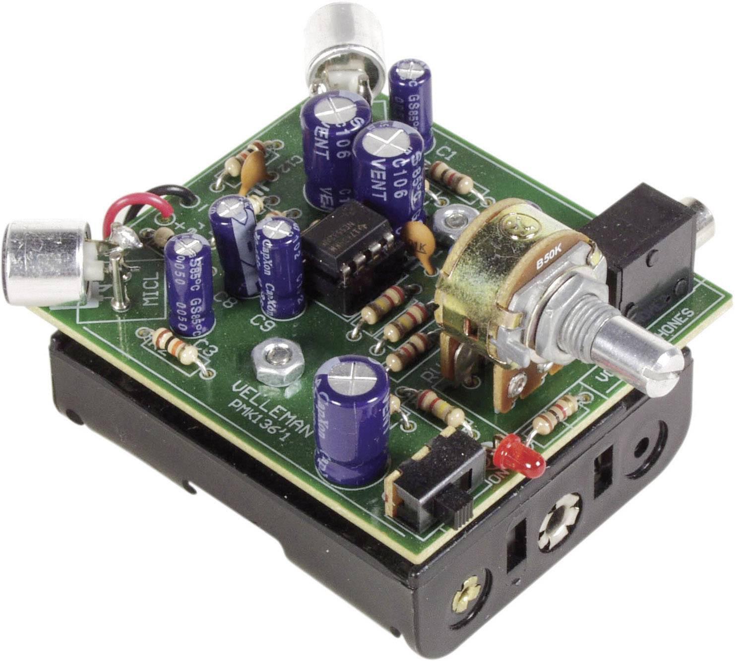 Zesilovač zvuku se vstupem pro sluchátka Velleman MK136, 4,5 V/DC (stavebnice)