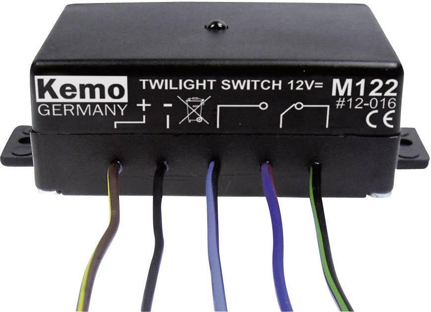Soumrakový spínač Kemo M122, 12 V/DC (modul)