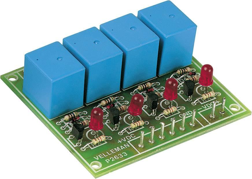 Karta relé Velleman K2633 se 4 výstupy, 3 A / 230 V/AC