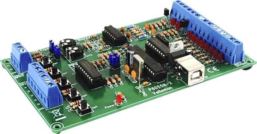 Experimentální USB rozhraní Velleman K8055N, stavebnicový díl, 70 mA