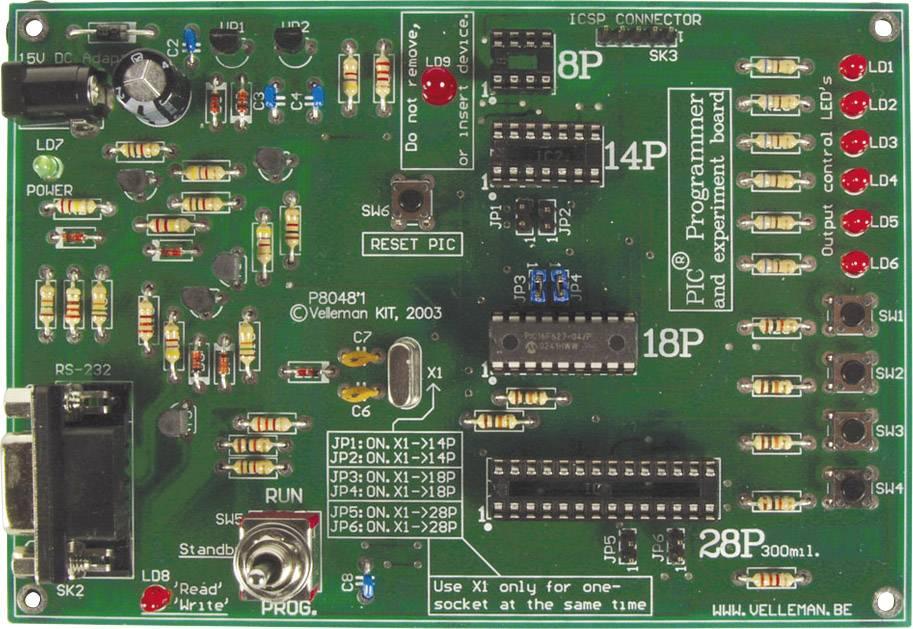 Experimentální stavebnice s programováním Velleman PIC K8048