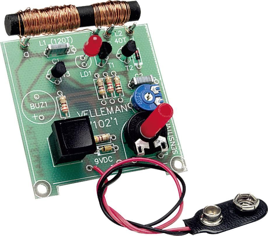 Detektor kovů Velleman K7102, 9 V/DC