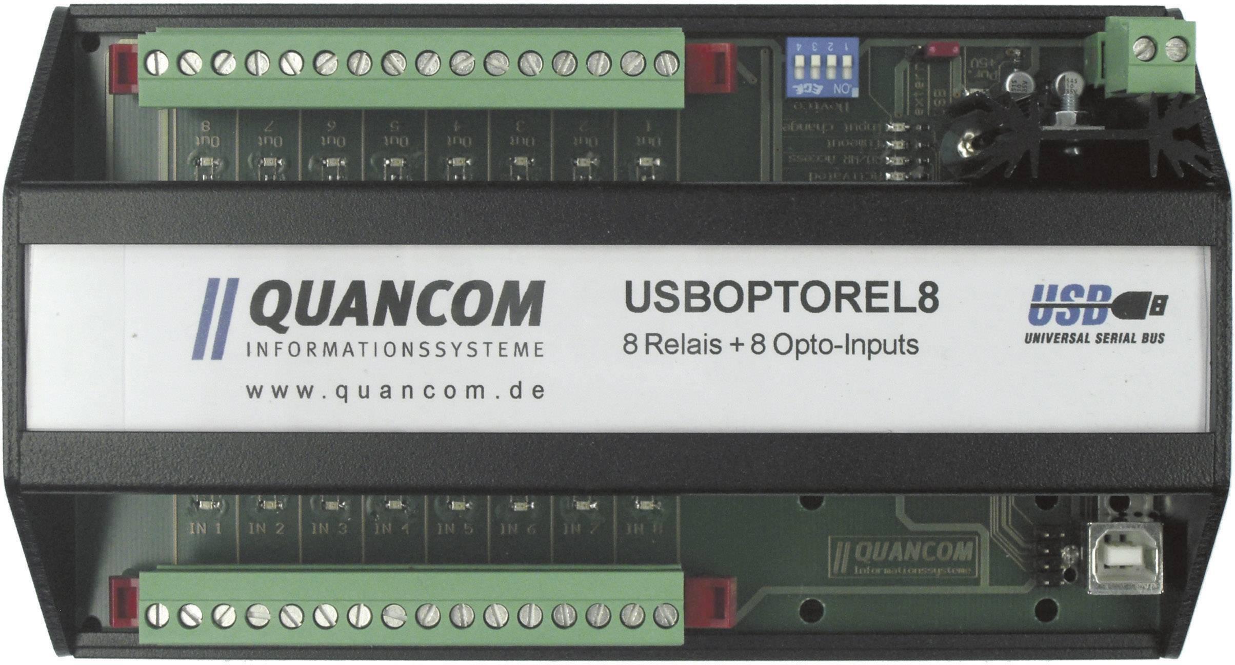I / O modul Quancom USBOPTOREL8, USB