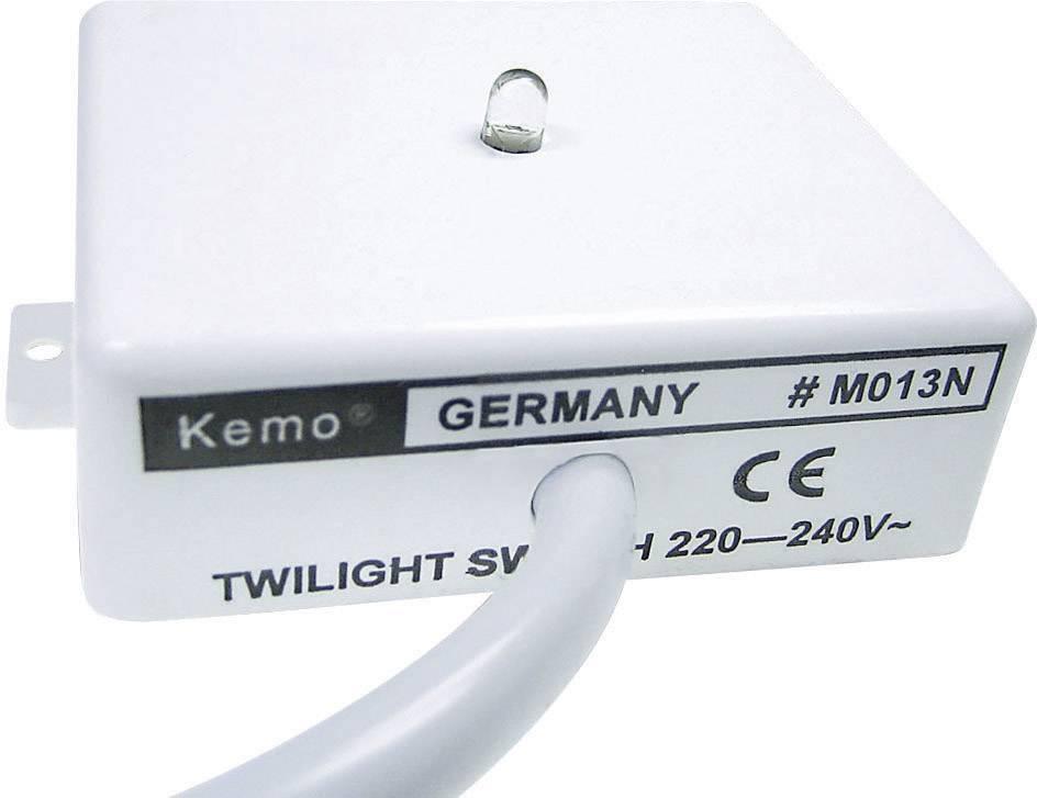 Soumrakový spínač Kemo M013N, 40 mA, 69 x 59 x 23 mm