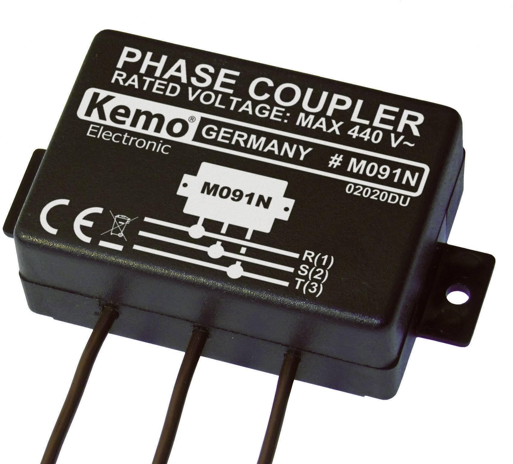 Elektronická fázová spojka pro Powerline produkty Kemo M091N, 110 - 440 V/AC