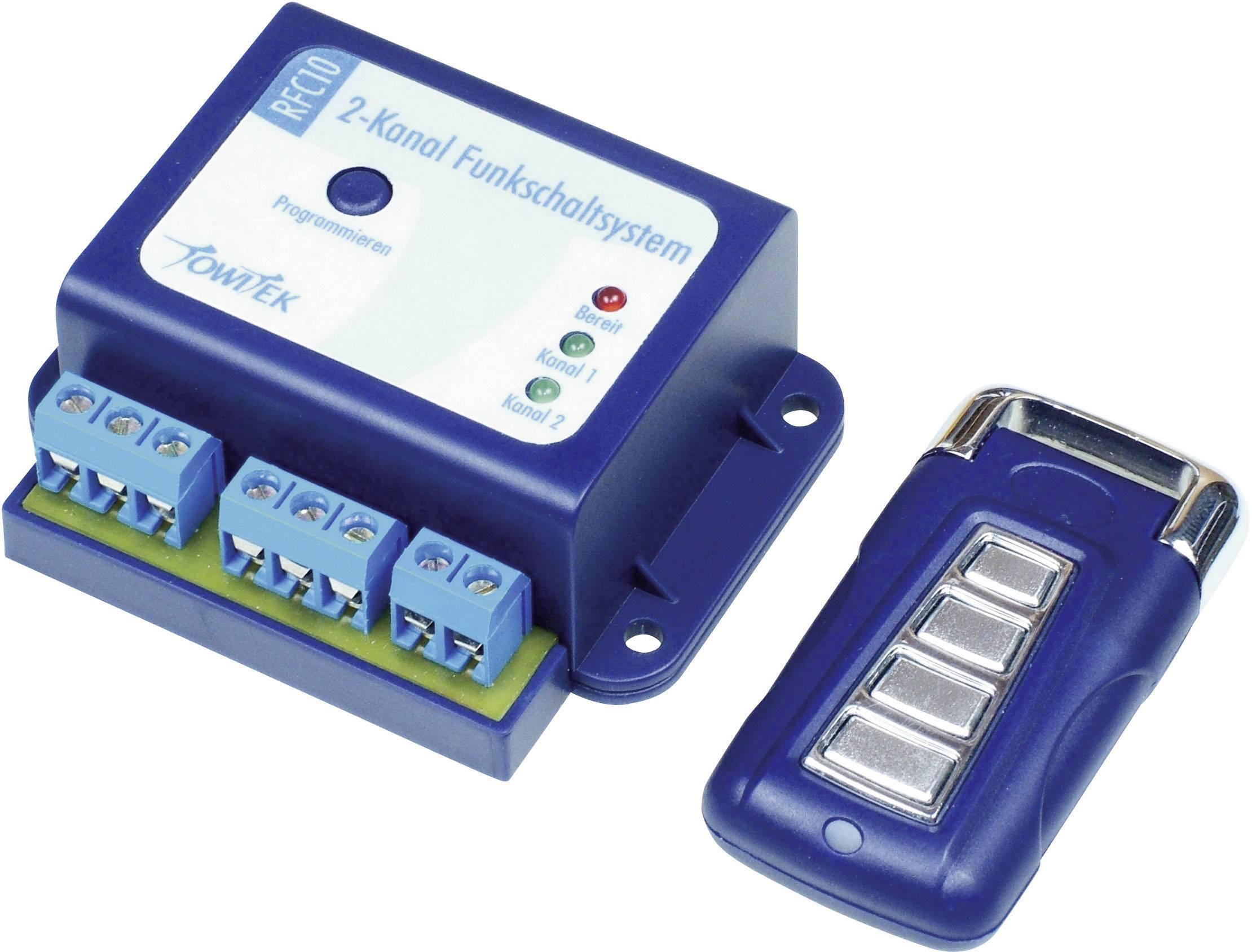 2-kanálový rádiový spínací systém + ruční vysílač