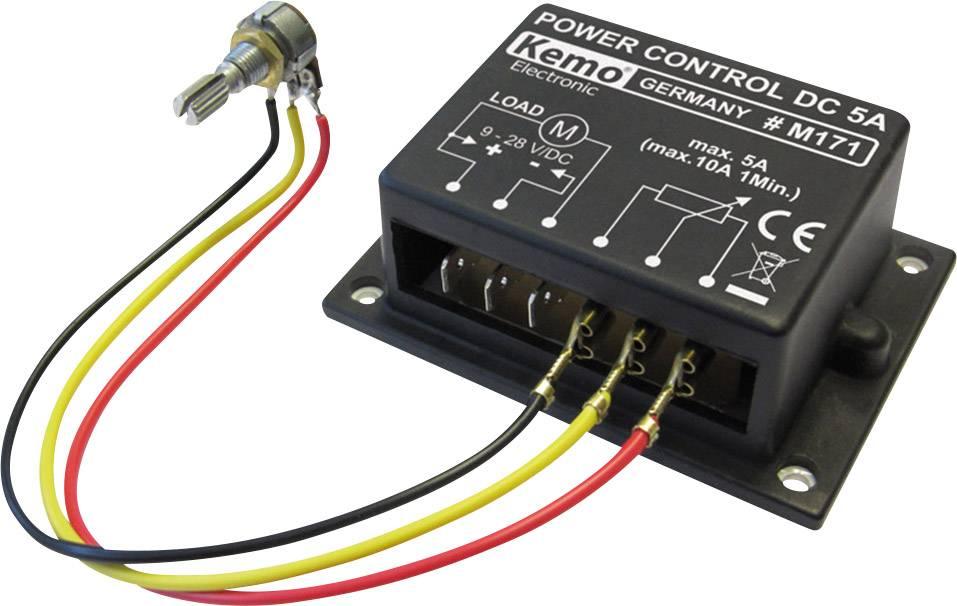Regulátor účinníka stavebnicový diel Kemo M171, 9 V/DC, 12 V/DC, 24 V/DC
