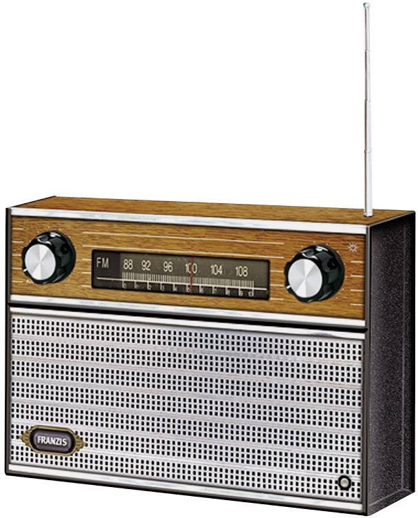 Stavebnica FM retro rádia Franzis Verlag