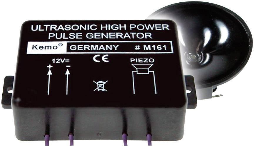 Ultrazvukový výkonový pulzní generátor Kemo M161, dosah 300 m