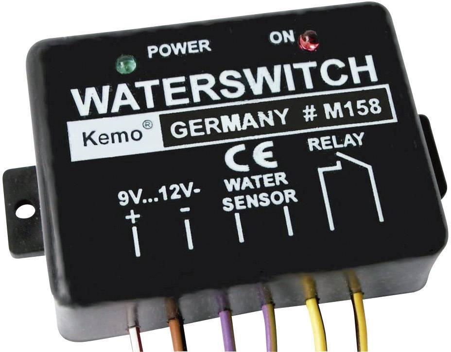 Detektor vody stavebnicový diel Kemo M158 9 V/DC, 12 V/DC
