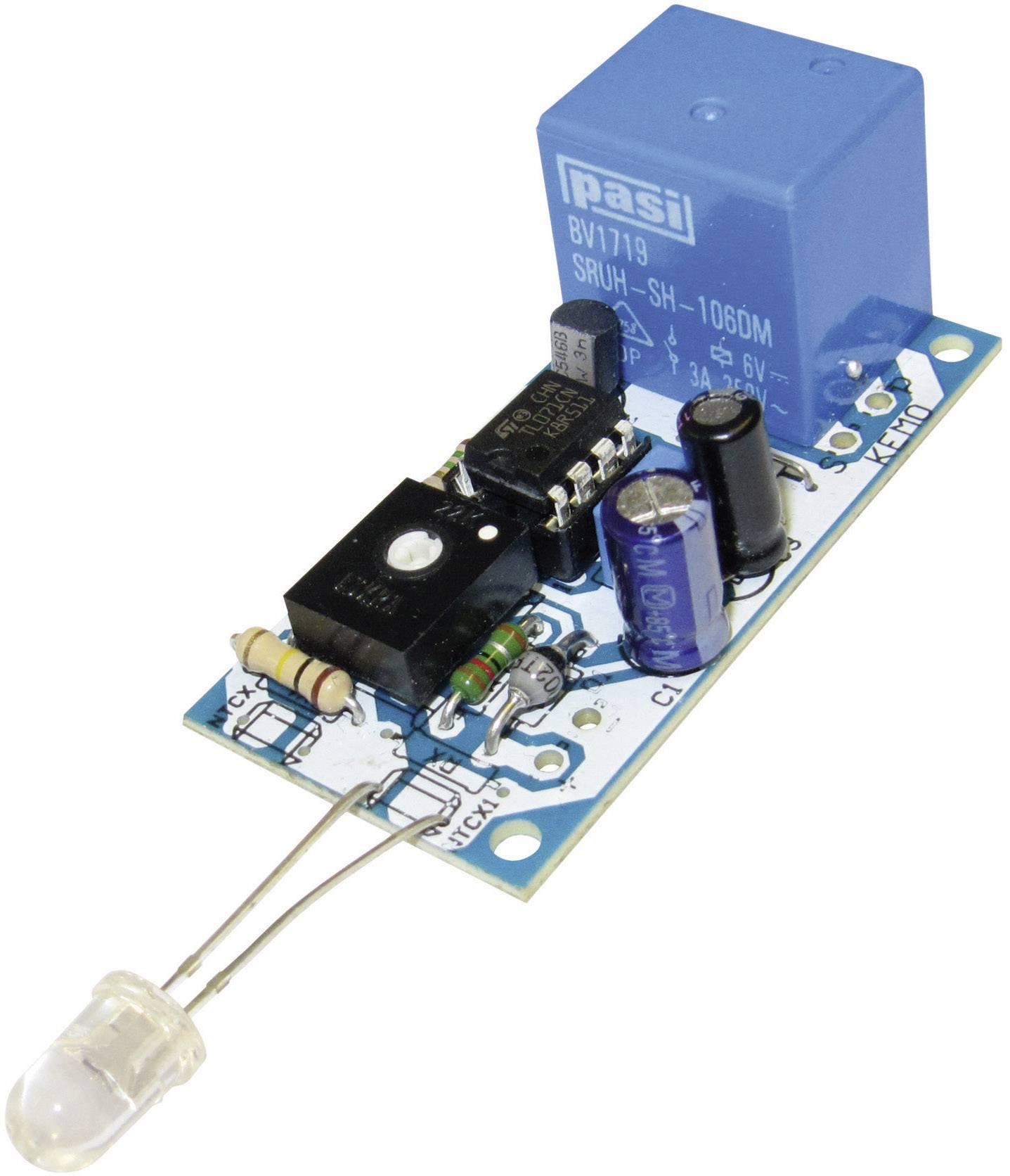 Světelný alarm spínaný změnou osvětlení 12VDC Kemo B045, 56 x 27 mm