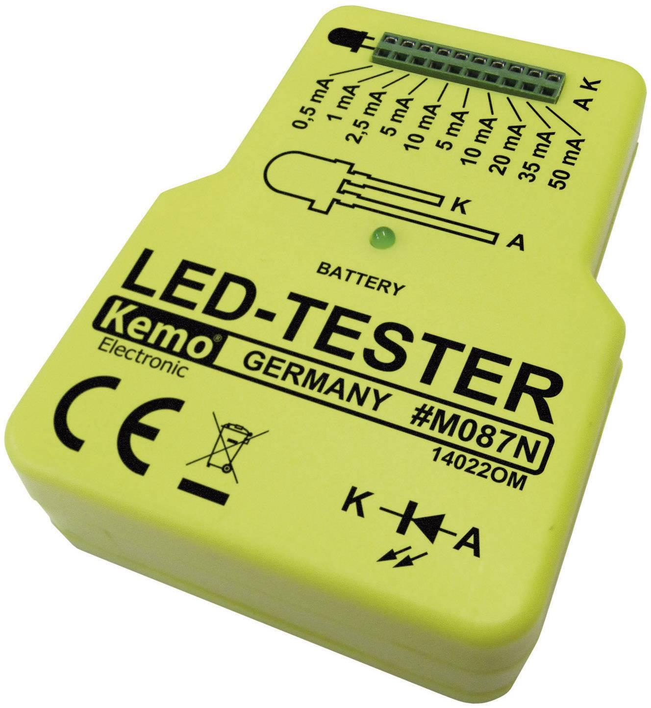 LED tester Kemo M087N, 9 V/DC, hotový modul
