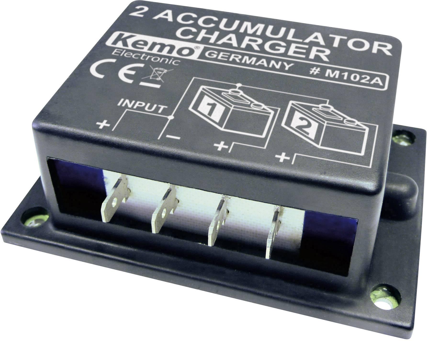 Nabíječka 2 akumulátorů Kemo M102N, 87 x 60 x 33 mm