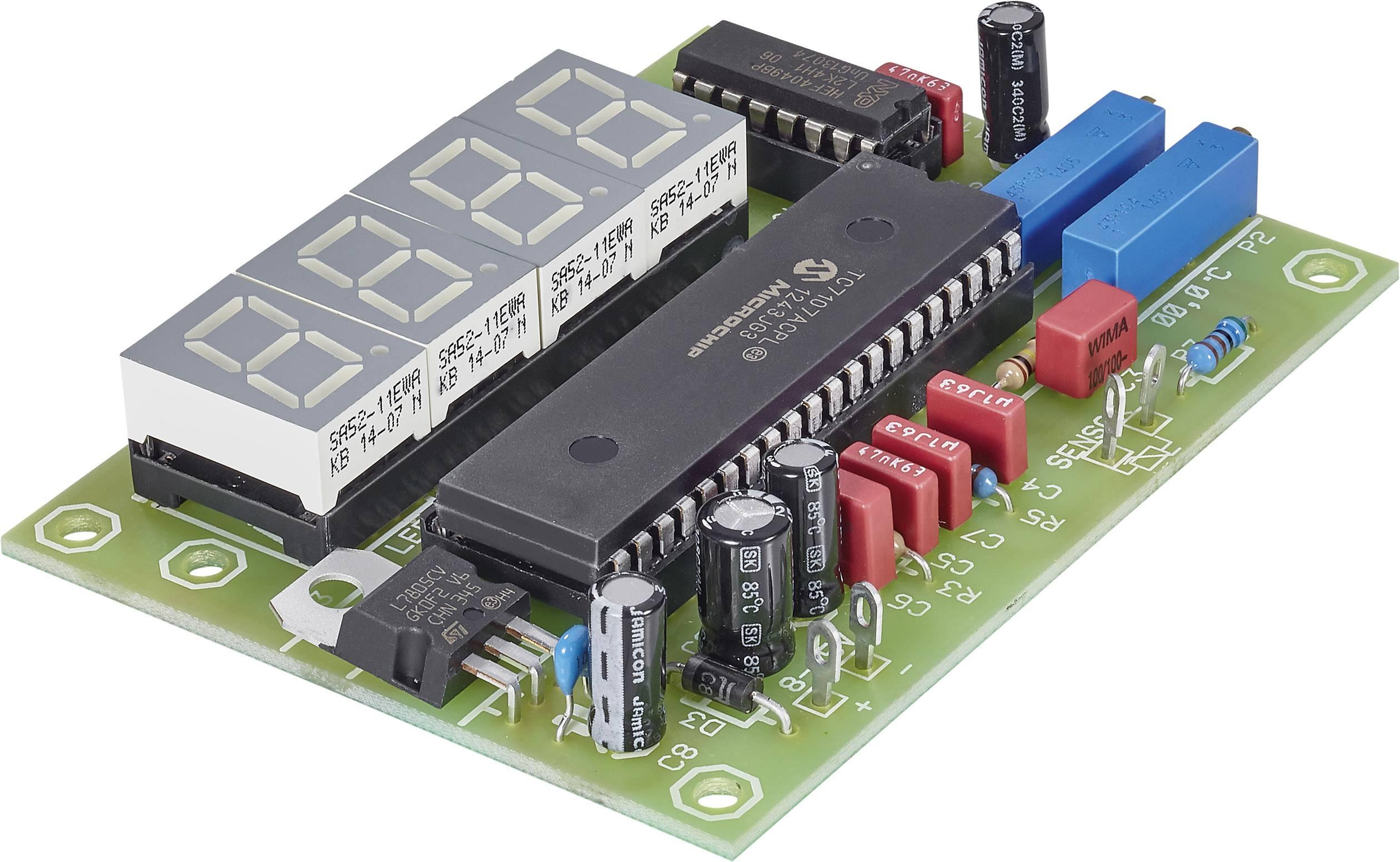 LED digitální teploměr, 7 - 18 V/DC, 200 mA, -50 až 150 °C