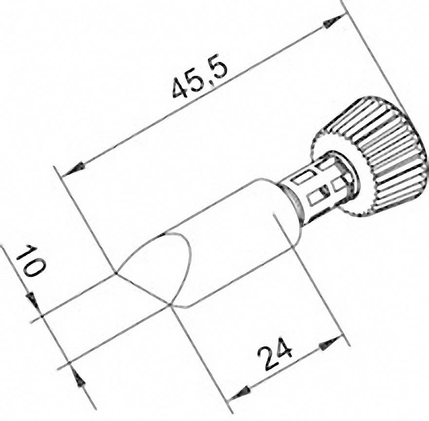 Spájkovací hrot dlátová forma Ersa 0102CDLF100/SB, velikost hrotu 10 mm, délka hrotu 45.5 mm, 1 ks
