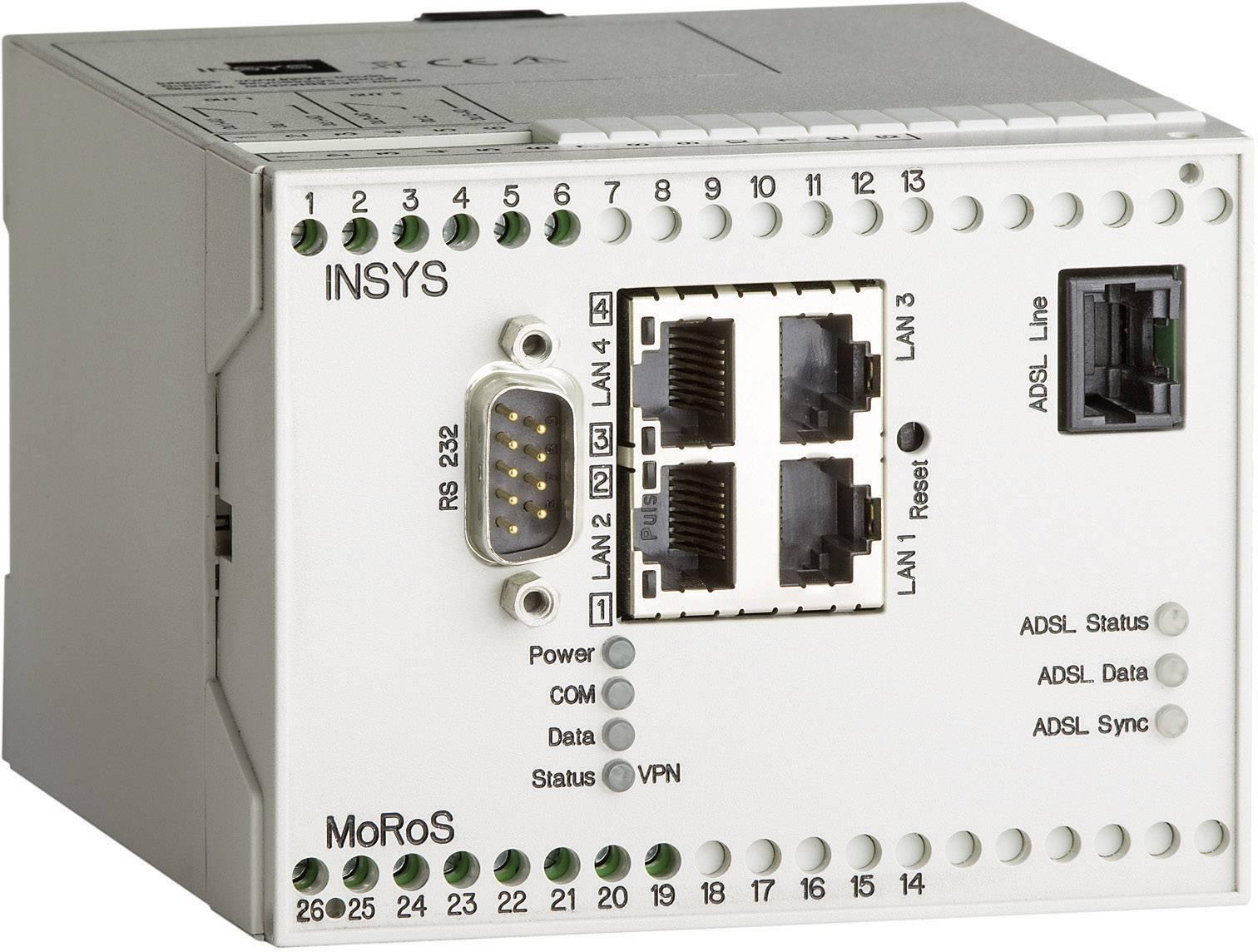 MoRoS ADSL Pro modem Insys 10000216, 110 x 100 x 75 mm
