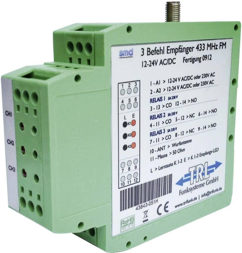 Bezdrátový přijímač TRL Funksysteme 43842-050H Max. dosah: 100 m 12 V/DC, 24 V/DC