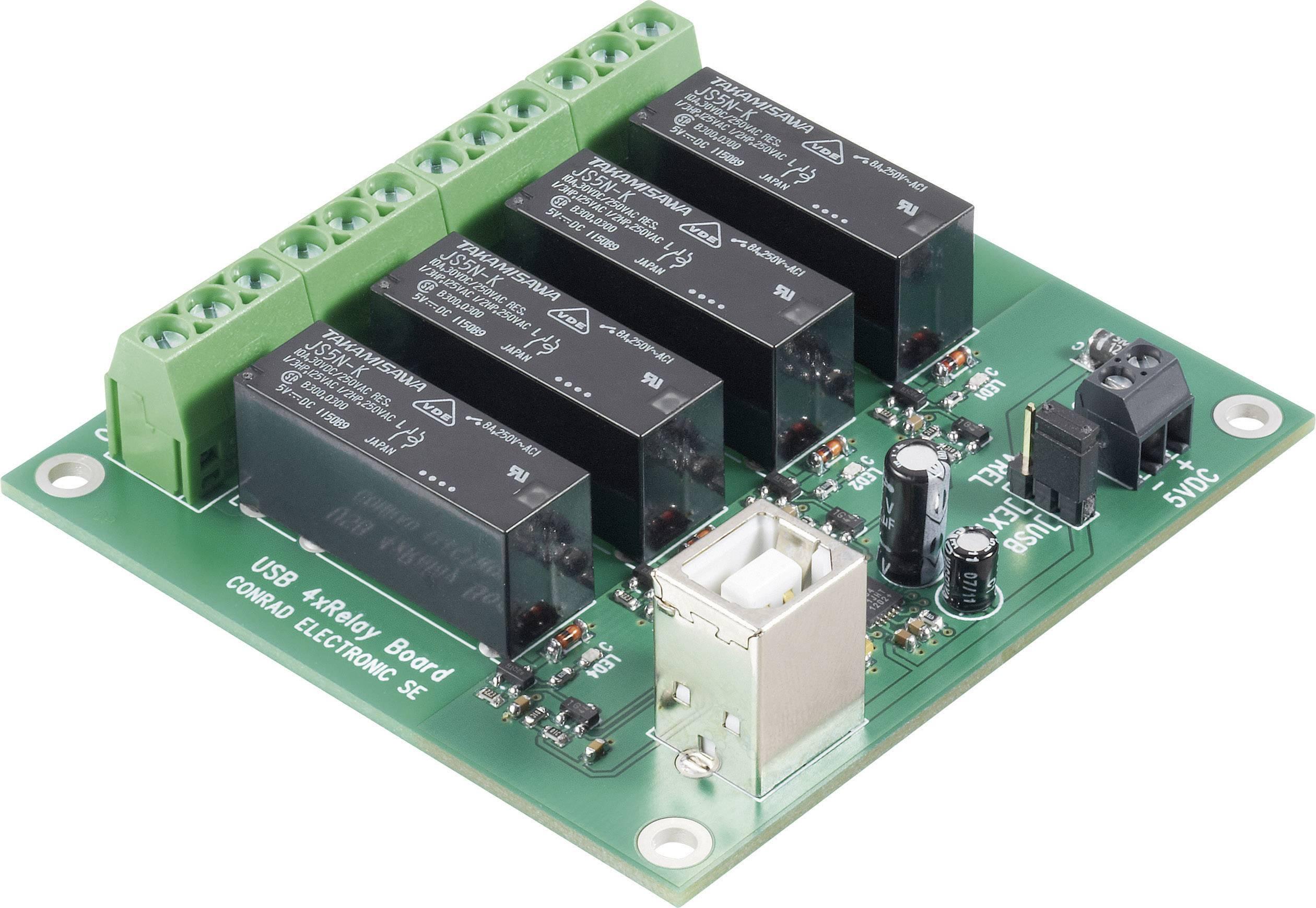 Relé karta stavebnicový diel Conrad Components 393905 5 V/DC