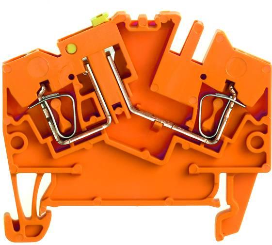 Zkušební oddělovací řadové svorky ZTR 2.5-2 OR oranžová Weidmüller Množství: 100 ks