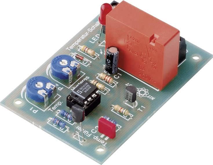 Teplotní spínač, -10 až 100 °C, 12 - 15 V/DC, 8 A (stavebnice)