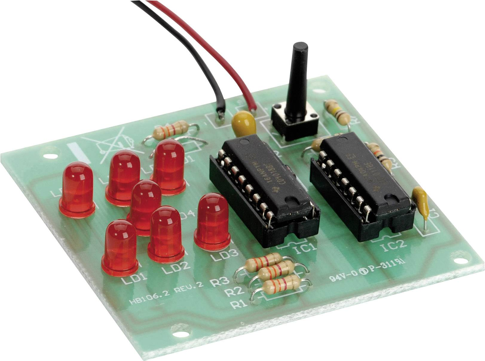 LED stavebnice kostka Conrad Components 195111, (d x š) 55 mm x 60 mm, 9 V/DC