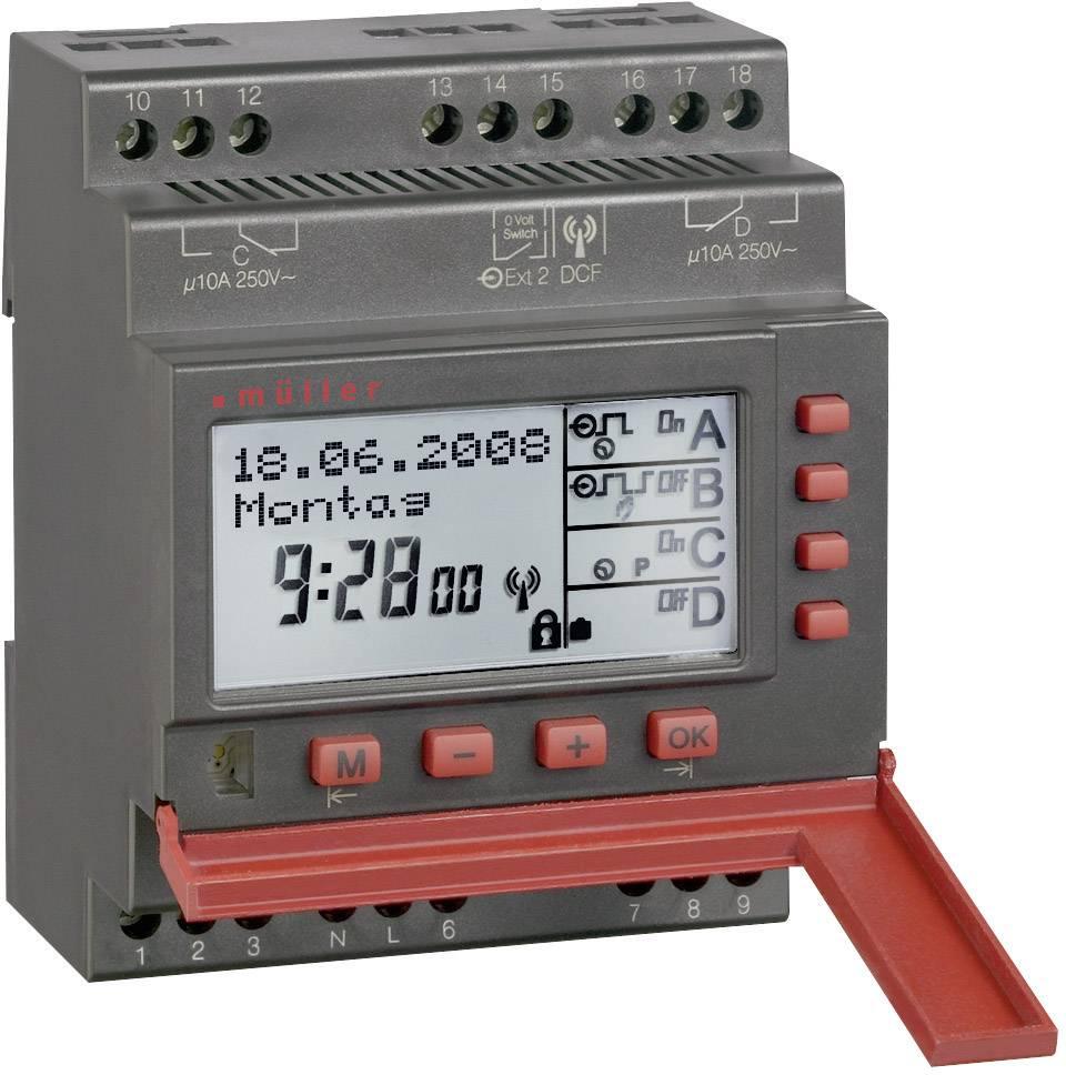 Časovač na DIN lištu Müller SC 88.40 pro, 230 V/AC, 10 A/250 V