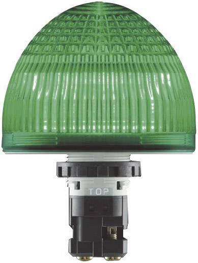 LED žárovka Idec Jumbo-Dome HW1P-5Q4G, 24 V / AC/DC, IP65, zelená