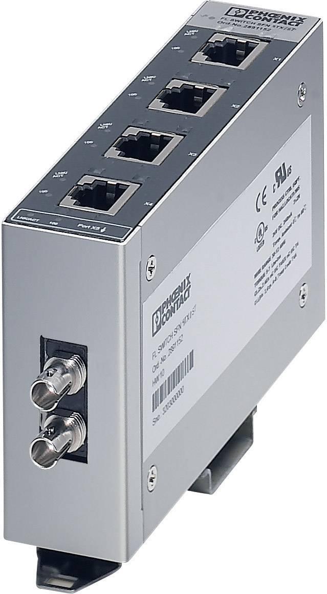 Ethernetový switch Phoenix Contact FL SWITCH SFN 4TX/FX ST (2891453), 140 mA