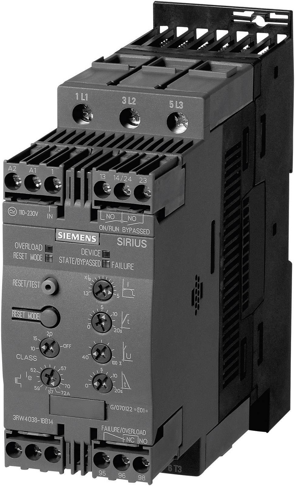 Soft startér Siemens 11/22 kW 200 - 480 V/AC 3RW4036-1BB14