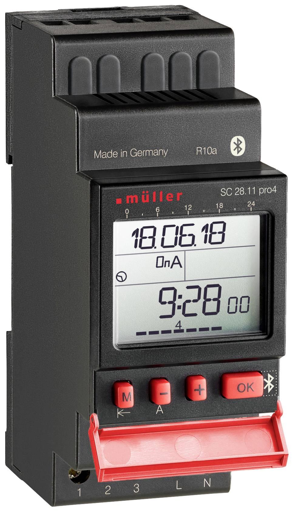 Časovač na DIN lištu Müller SC 28.21 pro, 12 V/DC, 12 V/AC, 16 A/250 V