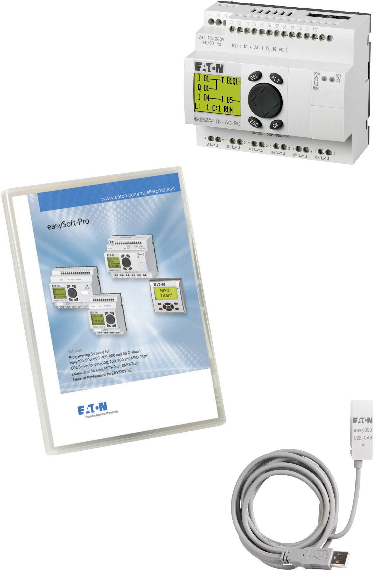 Štartovacia súprava Eaton easy-MAXI-Box-USB AC 116560, 115 V/AC, 230 V/AC