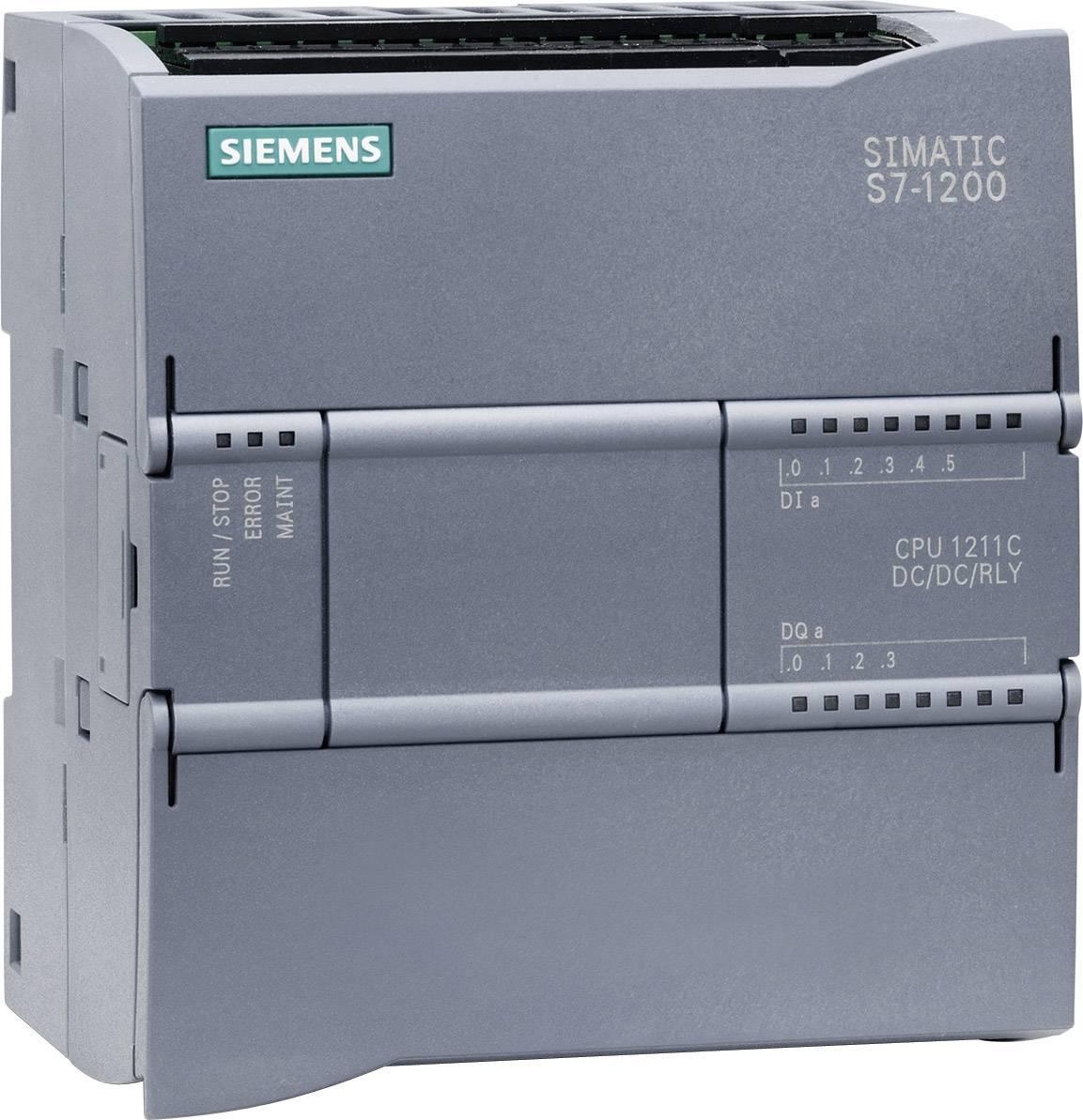 Řídicí reléový PLC modul Siemens CPU 1211C DC/DC/RELAIS (6ES7211-1HD30-0XB0), IP20