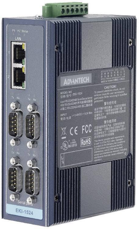 Wi-Fi Serial Device Server 4pot. RS-232/422/487 Advantech EKI-1524-BE