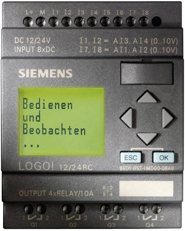 Riadiacimodul Siemens LOGO! 6ED1052-1MD00-0BA6, 12 V/DC, 24 V/DC