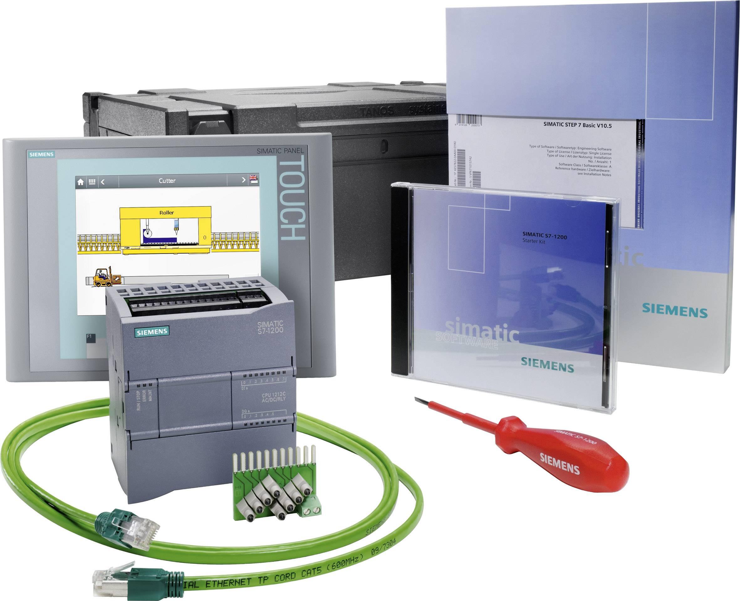 Sada PLC kontrolérů Siemens S7-1200+KTP700 BASIC 6AV6651-7DA01-3AA4, 115 V/AC, 230 V/AC