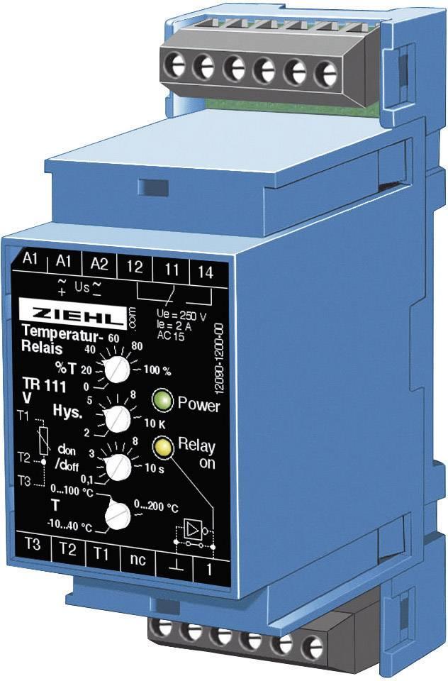 Elektronické sledovanie teploty a termostat TR 111 Ziehl pre typ PT 100
