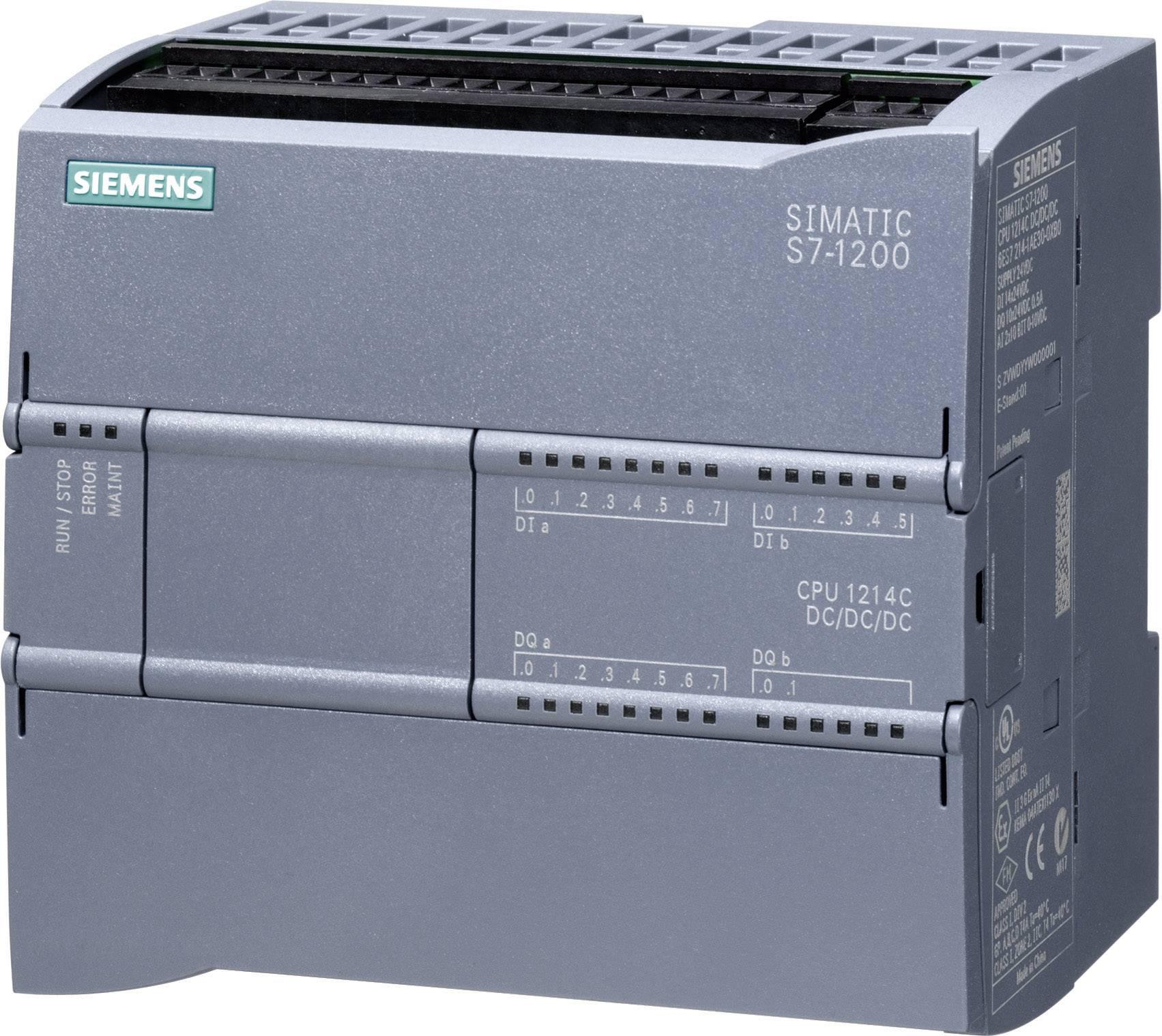 Řídicí reléový PLC modul Siemens CPU 1214C DC/DC/RELAIS (6ES7214-1HG31-0XB0), IP20