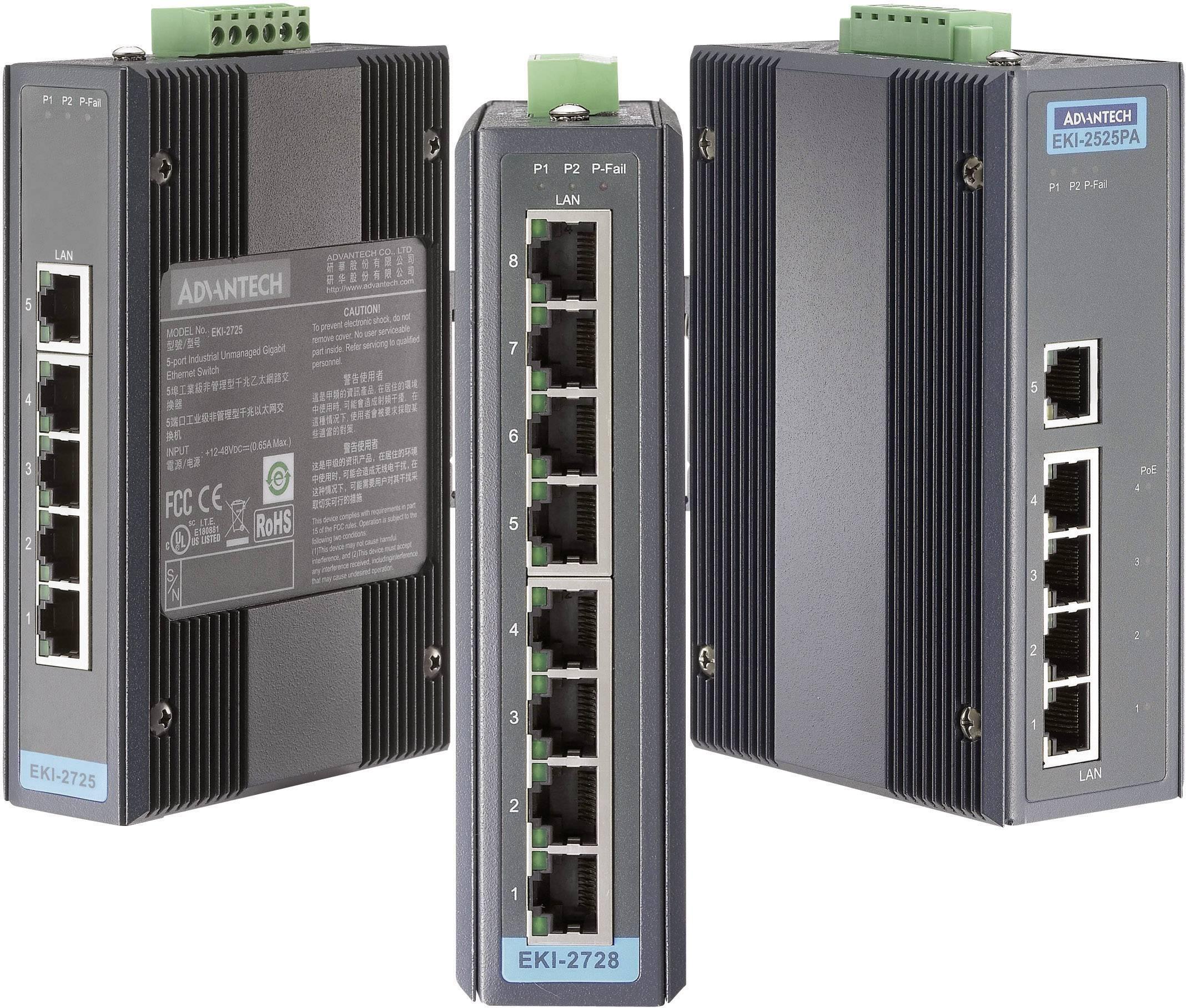 Ethernetový switch Gb Advantech EKI-2728-AE, 8port., 12 - 48 V/DC