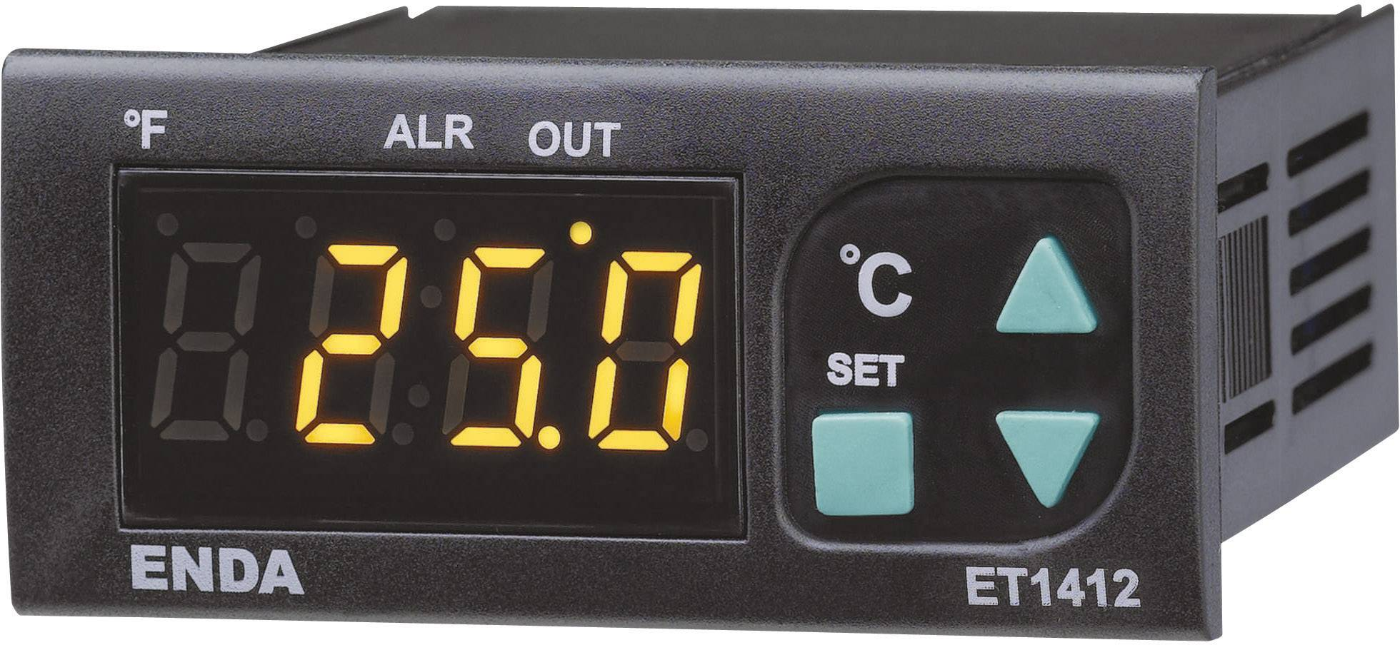 Panelový termostat Suran Enda ET1412, NTC senzor, 230 V/AC