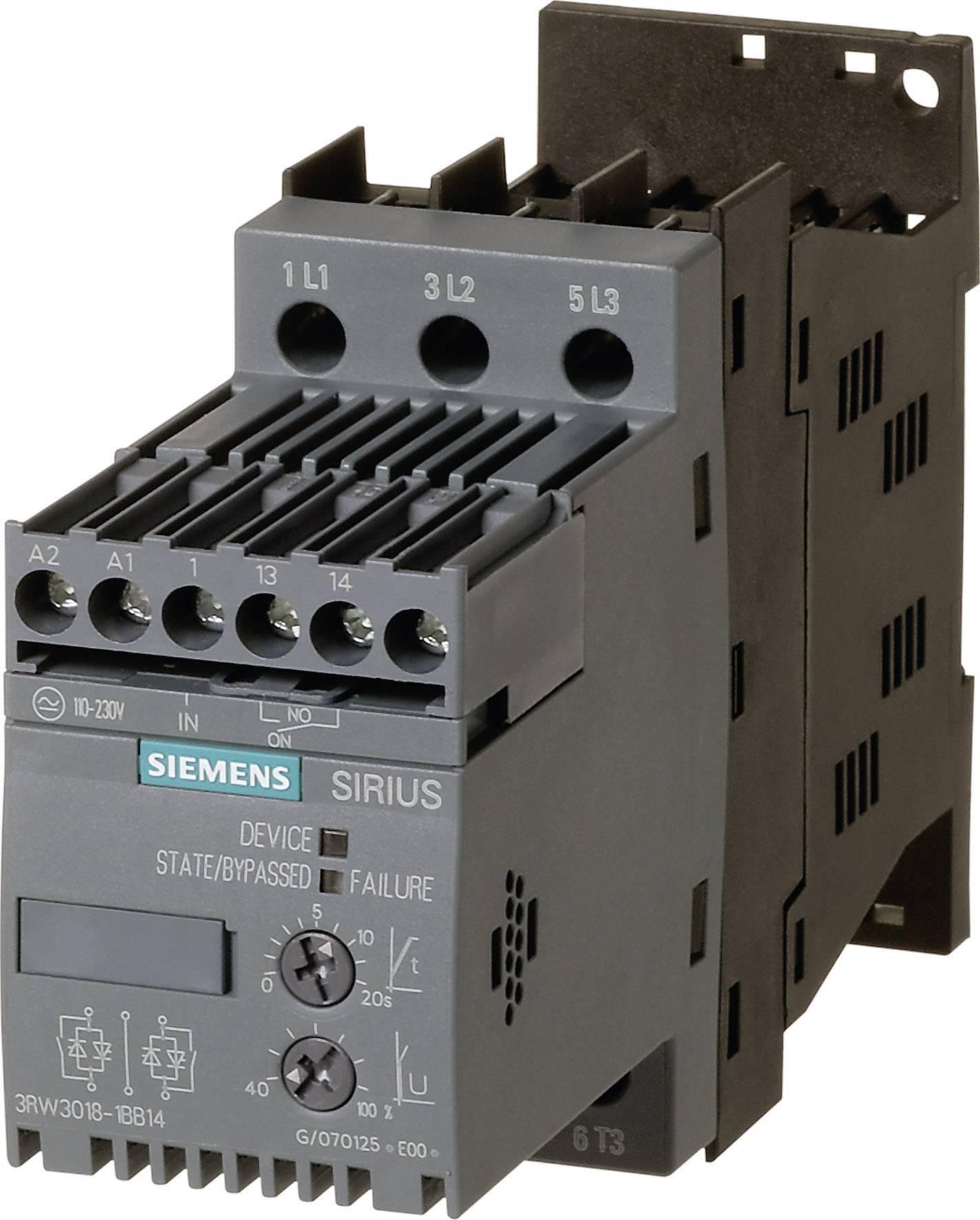 Softstartér Siemens 3RW3018 (3RW3018-1BB14)