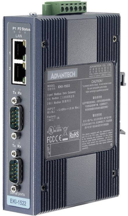 Wi-Fi Serial Device Server 2port. RS-232/422/486 Advantech EKI-1522-AE