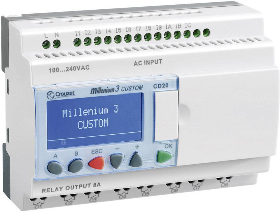 Riadiacimodul Crouzet CD20 R 230VAC SMART 88974053, 230 V/AC