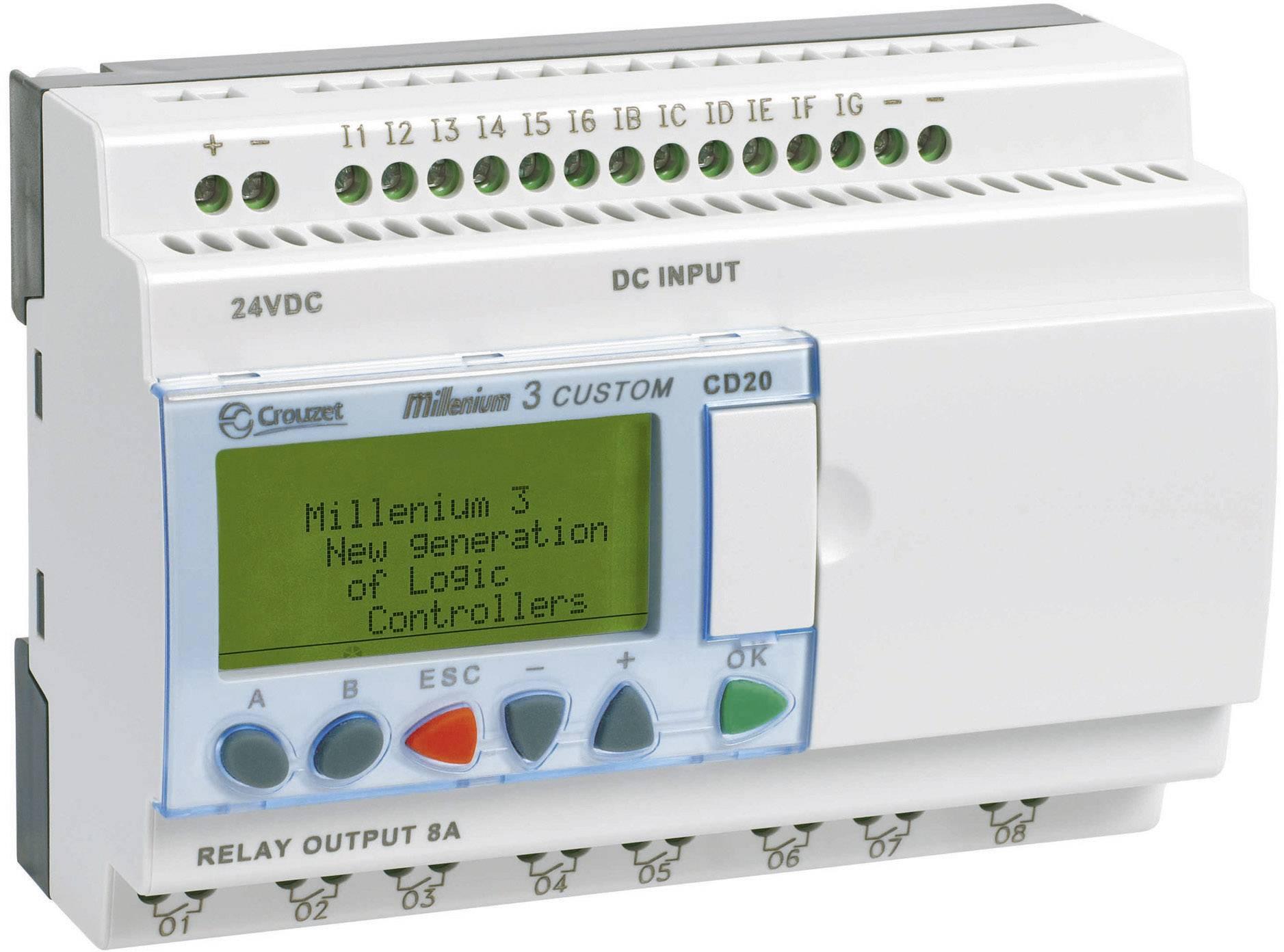 Riadiacimodul Crouzet Millenium 3 CD20 S 88970052, 24 V/DC
