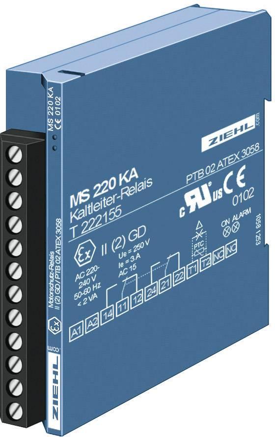 PTC relé Ziehl MSR 220 KA, T 222175.CO, 5 A/250 V/AC, 2 výstupy
