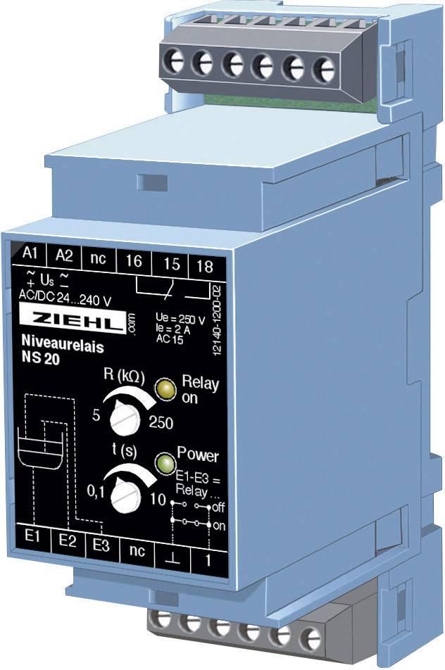 Hladinové riadiace relé Ziehl NS 20 V 223440.CO, montážní hloubka 55 mm