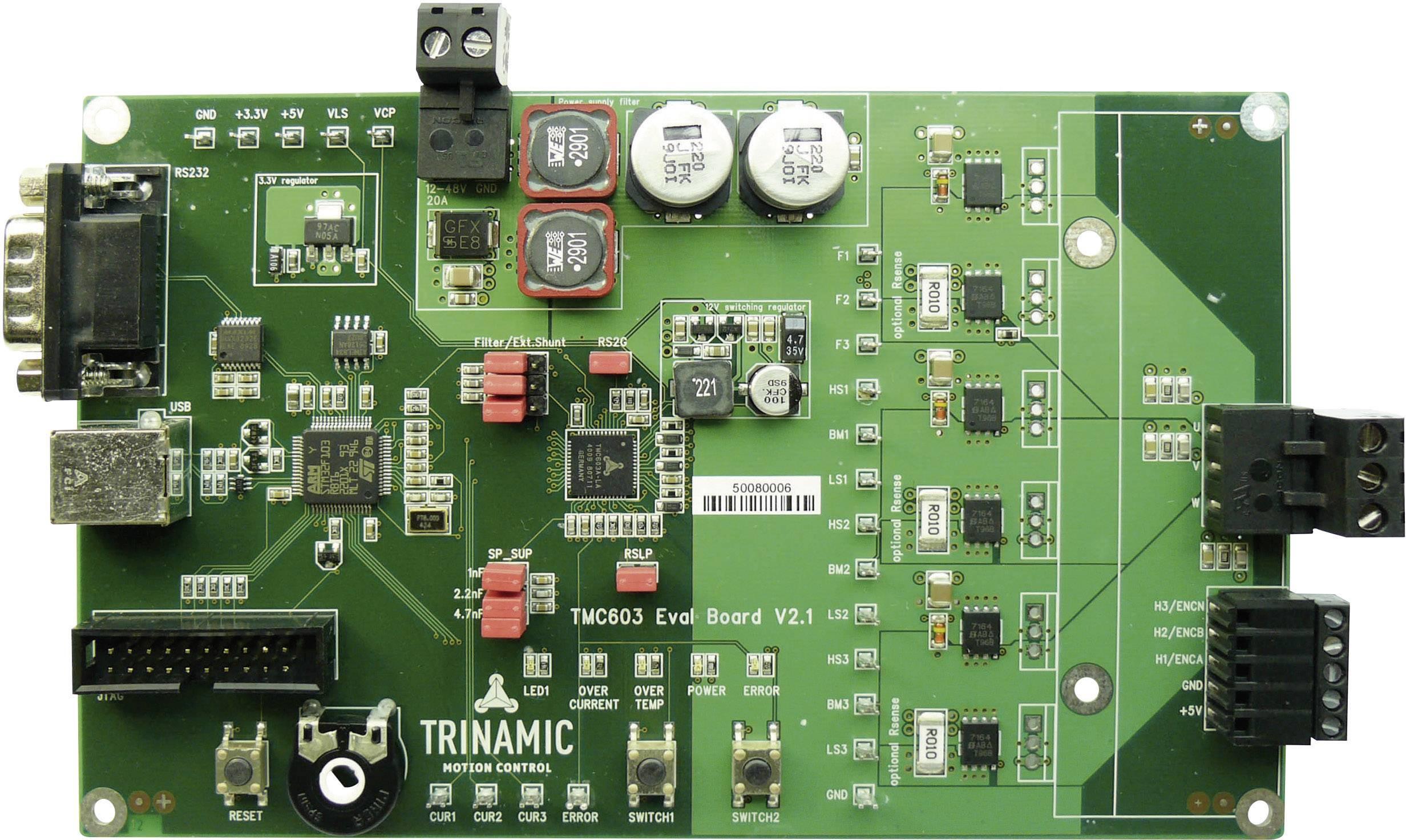 Vývojová doska Trinamic TMC603-EVAL, 6 A